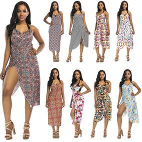 07ef6d77c Mulheres Ver?o Impresso Cover Up Beach Dress Beach Wear