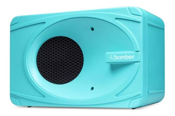 Caixa De Som Bluetooth Mini Portátil My Bomber Azul 5w Rms
