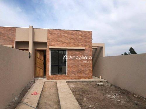 Casa Com 2 Dormitórios À Venda, 58 M² Por R$ 203.000,00 - Borda Do Campo - Quatro Barras/pr - Ca0367
