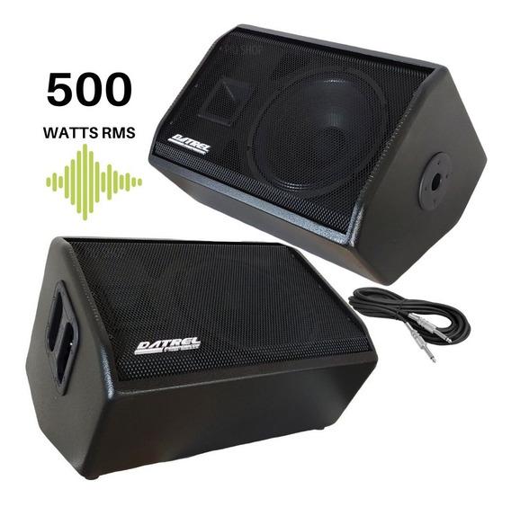 Kit Retorno Monitor Datrel Ativo + Passivo Falante 12 500w