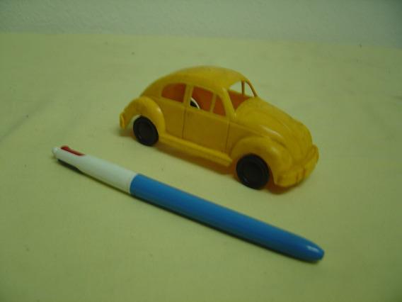 Brinquedo Antigo Fusca Da Atma - Plástico Anos 60 - Amarelo