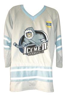 Jersey Sudadera Hockey Original Autografiado 2013 Icemen Evansville Vintage $490