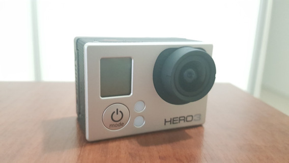 Go Pro Hero 3 Silver Com Visor E Acessórios