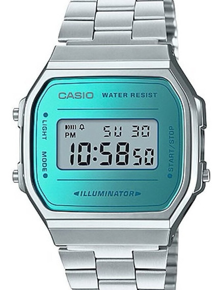 Relógio Casio Feminino Vintage Quadrado Prata A168wem-2df