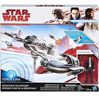 Star Wars Force Resistance Ski Speeder C/ Figura Poe Dameron