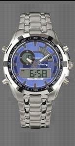 Relógio Infantry Quartz Sport Digital Azul P Aço Inoxidável