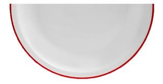 Juego 6 Platos Playos Porcelana Tsuji 455 Filete Rojo