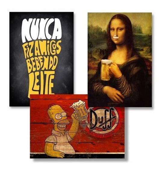 Kit Com 6 Placas Decorativas - Mdf