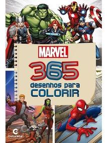 Livro Infantil Heróis Vingadores 365 Desenhos Para Colorir