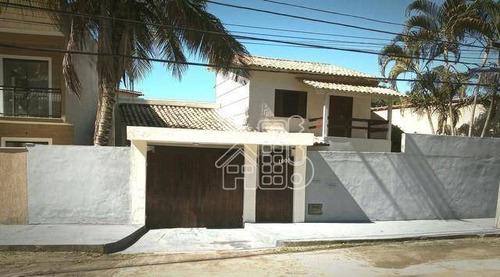 Casa Com 3 Dormitórios À Venda, 230 M² Por R$ 480.000,00 - Itaipu - Niterói/rj - Ca1714