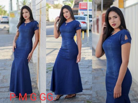 Vestido Jeans Longo Ref897