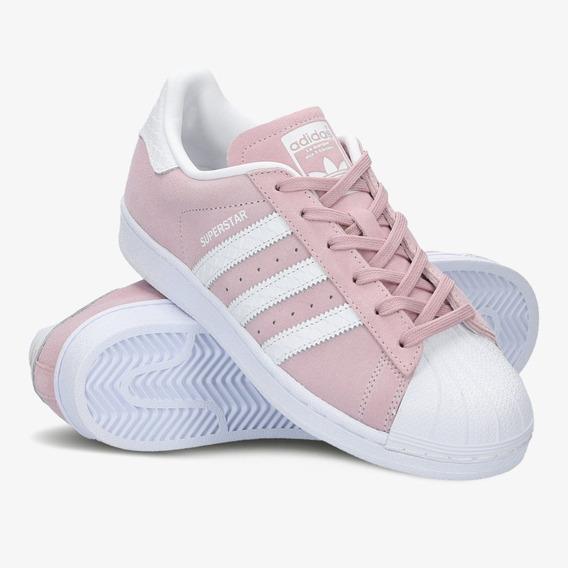 Tênis adidas Superstar Camurça Rosa Original. Em Promoçã