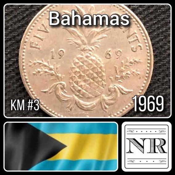 Bahamas - 5 Cents - Año 1969 - Km # 3 - Piña - Anana