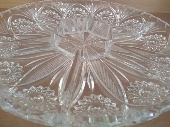 Petisqueira De Cristal Com Divisórias