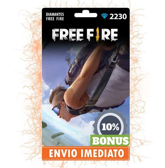 Garena Free Fire 2453 Diamantes - Recarga Para Conta