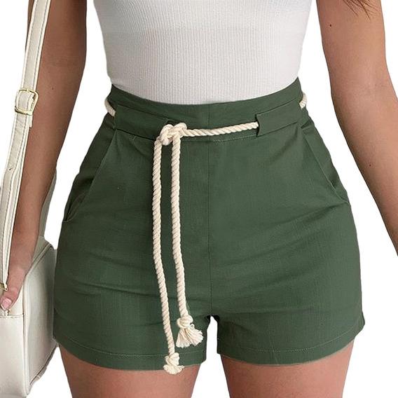 Short Cintura Alta Cinto Feminino