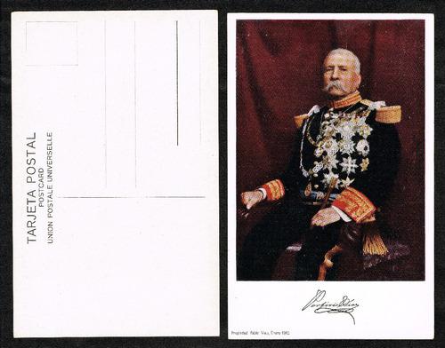 Imagen 1 de 5 de Tarjeta Postal De 1910 De Porfirio Díaz  (original Nueva)