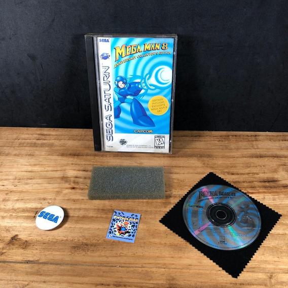 Mega Man 8 Long Box 100% Original P/ Sega Saturn!! Raro!!