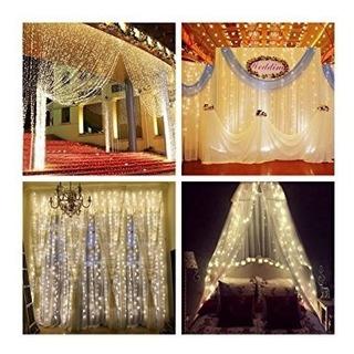 Cortina Luces Led, Decoración, Navidad,bodas,ect (compare Ya