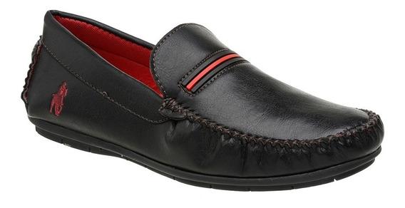 Sapato Mocassim Casual Masculino Moderno Preto