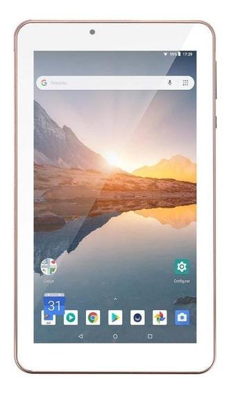 """Tablet Multilaser M7S Plus 7"""" 16GB rosa com memória RAM 1GB"""