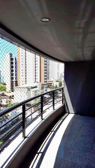 Apartamento No Meireles - 3 Quartos, Varanda, Elevador, Vaga