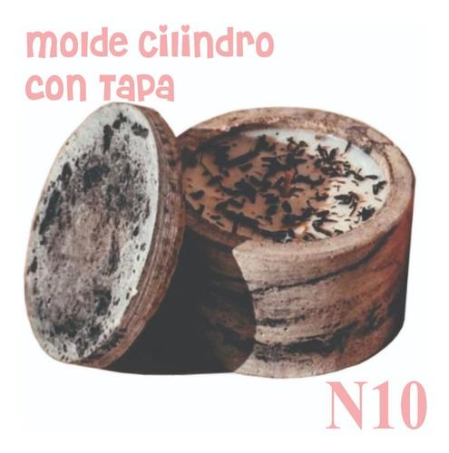 Imagen 1 de 6 de Molde Maceta/porta Vela Cilindro Cemento N10+moldetapa+clips