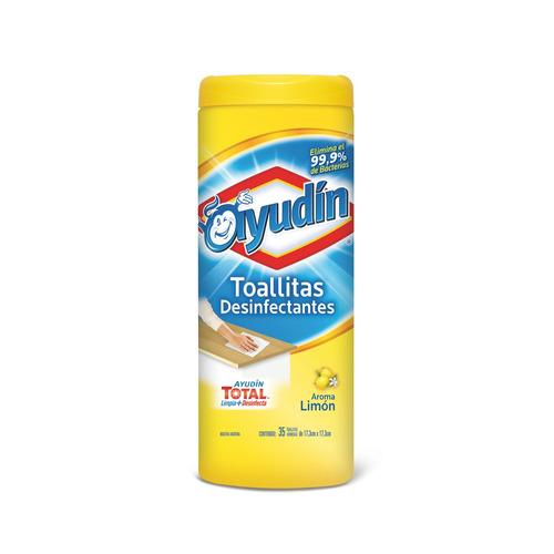 Toallita desinfectante Aroma Limón Ayudín envase35u