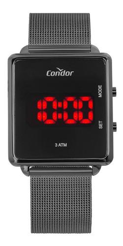 Relógio Condor Feminino Cojhs31bac/4c Quadrado Led