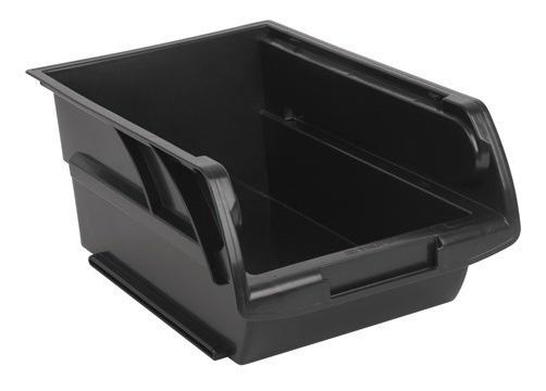 6 Gavetas Apilables Grandes Color Negro 10891 Truper