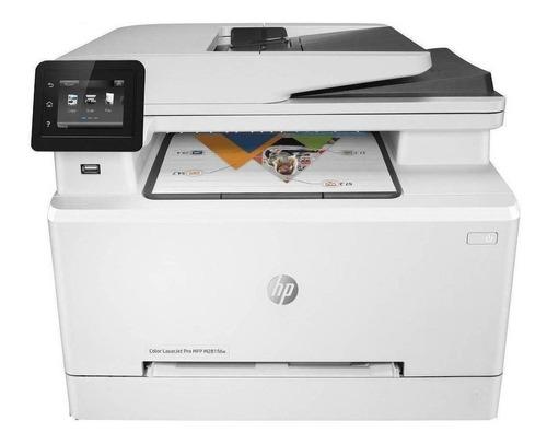 Impressora a cor multifuncional HP LaserJet Pro M281FDW com wifi 110V branca