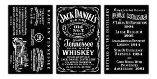 Cuadro Decorativo Whiskey Jack Daniels Decoración Bar 168x86