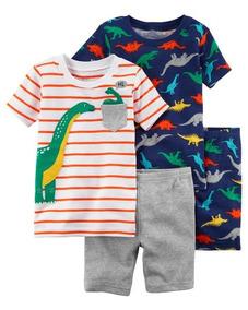 Pijama Carters 4 Peças - 12 Meses - 13605110