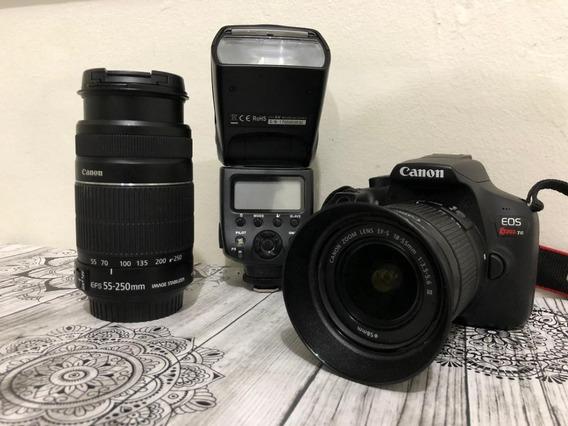 Camera Canon Rebel T6 (grátis Flash Speedlight)