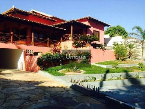 Casa Com 4 Dormitórios À Venda, 288 M² Por R$ 3.200.000,00 - Brava - Armação Dos Búzios/rj - Ca0581