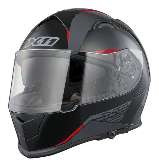 Capacete X11 Revo Motoqueiro C/ Viseira Óculos Solar Interno Motociclista Motoboy
