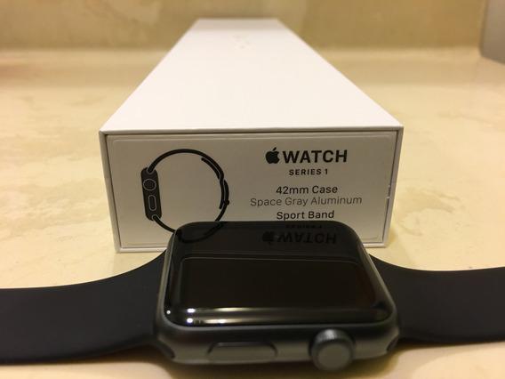 Apple Watch Serie1 De 42mm Con Correa Deportiva Negra