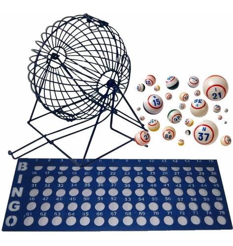 Balotero Metálico + Balotas + Tablero Para Bingo + Envío