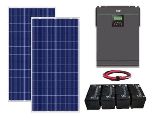 Imagen 1 de 8 de Kit Panel Solar Autonomo Isla Para Refrigerador Focos Tv