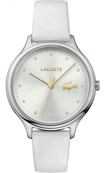 Relógio Lacoste Feminino Couro Branco 2001005 Pronta Entrega