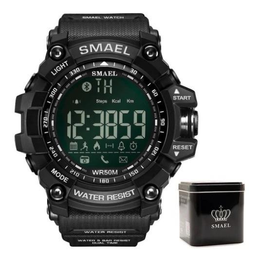Relógio Smael® Bluetooth Led 1617b Preto - Android/ios