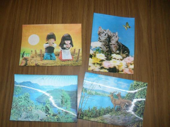 Lote 4 Postales 3d Japonesas Años 80s