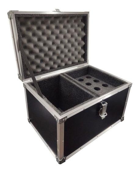 Hard Case Maleta 12 Microfones Com Vao Para Acessorios - Nfe - Pronta Entrega! - Envios Full