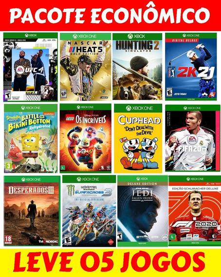 Pacote 5 Jogos Xbox One Escolha Na Descrição Promoção