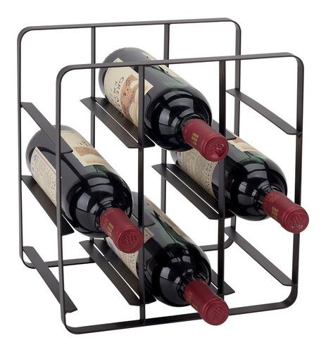 Rack Acero Para 9 Botellas De Vino