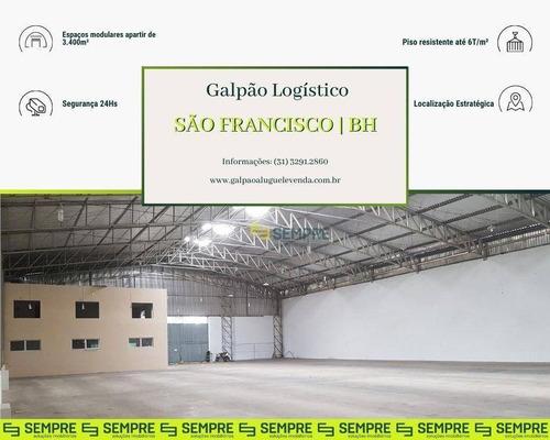 Imagem 1 de 19 de Galpão Para Alugar, 3.400 M² - São Francisco - Belo Horizonte/mg - Ga0883