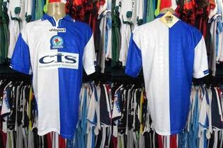 Blackburn Rovers 1998 Camisa Titular Tamanho G.