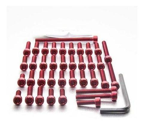 Jg Parafusos Alumínio Tampas Motor Cb1000r 08-17 Vermelho