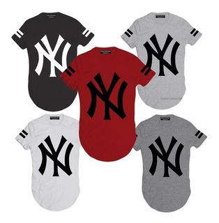 Camiseta Camisa Oversized Longline Ny King Masculina