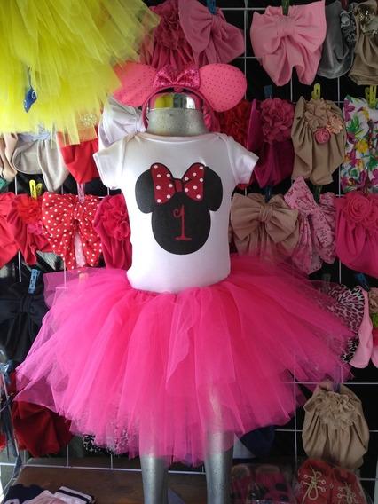 Tutú Minnie Mouse Ideal Para Cumpleaños 1